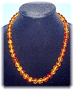 22 Inch Golden Amber 10mm-13mm Necklace