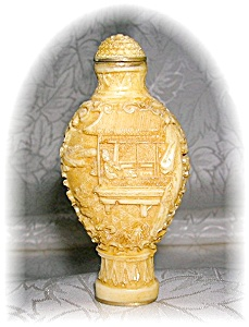 CINNABAR CHINESE CREAM COLOR SNUFF BOTTLE (Image1)