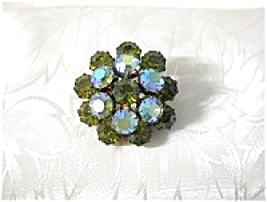 Vintage Sparkling Apple Green AUSTRIAN Brooch (Image1)