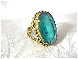 Vintage Emerald CZECHOSLOVAKIA Ring (Image1)