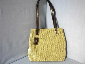 Stone Mountain Fabric Leather Purse Bag