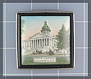 Powder Compact, Souvenier  State Capital, Columbia S. C (Image1)