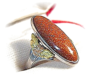 Goldstone & Sterling Silver Ring . . . . . . . .