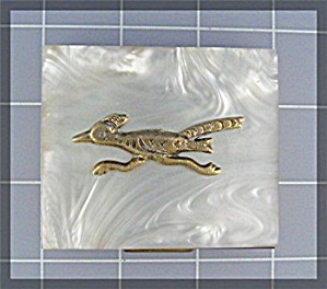 Compact Roadrunner Bird Coin Holder Souvenier