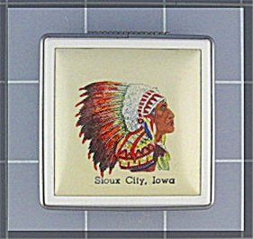 Compact Sioux City Iowa Souvenier