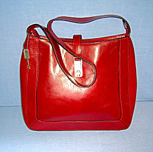 Red Leather Fossil Bag (Image1)