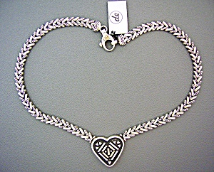 Necklace Sterling Silver Gold Designer Degruchy Heart