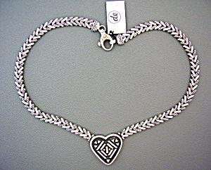 Necklace Sterling Silver Gold Designer DeGruchy Heart (Image1)