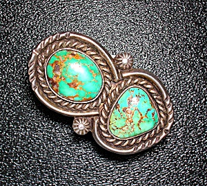 Native American Carico Lake Turquoise Sterling Silver R