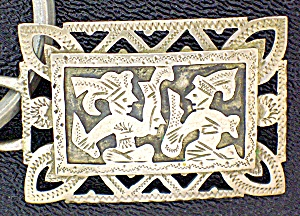 Sterling Silver Warriors Key Fob Guatemala (Image1)