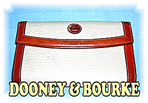 Cream & Tan Leather Dooney & Bourke Wallet (Image1)