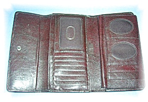 Tobacco Brown Fossil Check Book Wallet