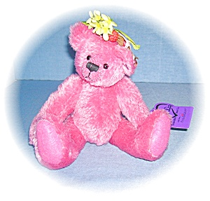 Annette Funicello  Pink Mohair Bear 10 Inches  (Image1)