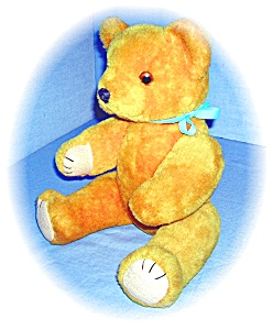 Vintage Golden Mohair Fully Jointed Bear (Image1)