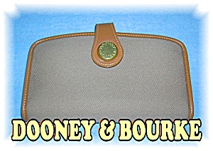 Tan Leather & Fabric DOONEY & BOURKE Wallet (Image1)