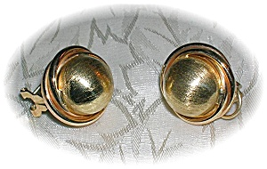 Earrings 10K Yellow  Gold French Back Dome (Image1)