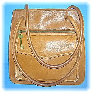 Bag Fossil Light Tan Leather Roomy tote (Image1)