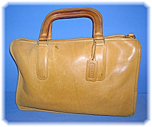 13 Inch Light Tan Bonnie Cashin Coach Leatherbag