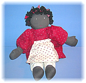Handmade By Danielle Black Folk Art Doll (Image1)