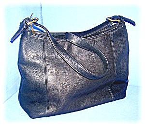 Hand Bag Purse Black Leather Sonoma Jean Co  (Image1)