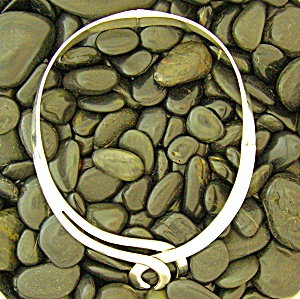 Sterling Silver Taxco Mexico Hinged Collar Necklace (Image1)