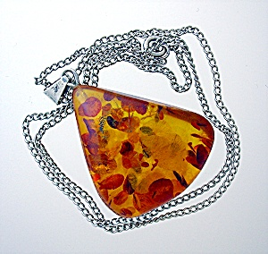 Amber Pendant, Sterling Silver Bale . . . . . .