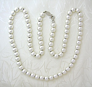 Napier Silver Bead Necklace