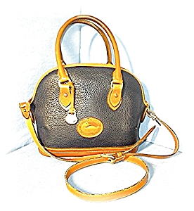 DOONEY & BOURKE Navy Blue & Tan Bag (Image1)