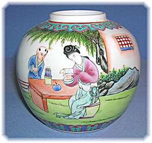 Oriental Tea Ceremony Porcelain Jar (Image1)