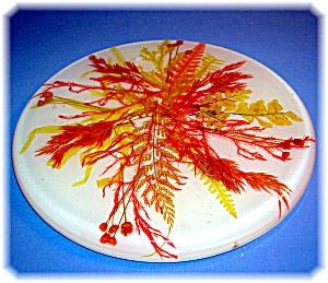 Vintage Autumn Colors Grasses and Leaves Trivet (Image1)