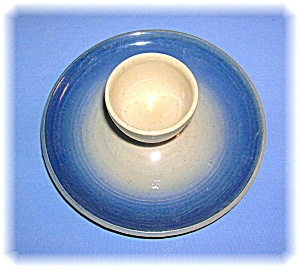 English C King Wiltshire Blue Grey Pottery Egg Cup