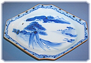 Oriental Japanese Porcelain Pottery Dish (Image1)