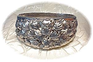 BARTEK Silvertone  Hinged  Leaf Bracelet (Image1)