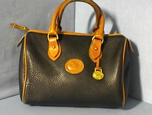 Bag DOONEY & BOURKE  USA Black  Tan Leather Dr  (Image1)