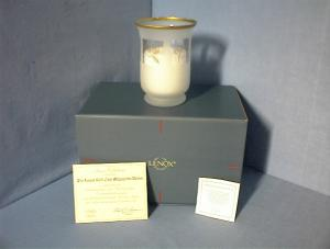 Glass 24Kt Gold Lenox Candle Holder/Candle (Image1)