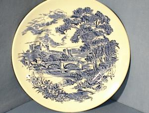 10 Inch Blue Wedgewood Countryside Plate