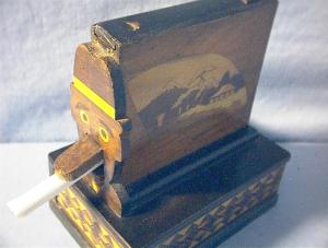 Oriental Marquetry Novelty Cigarette Box (Image1)