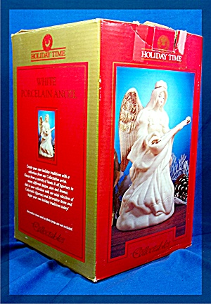 White Porcelain Angel, Holiday Time Collectables - MIB (Image1)
