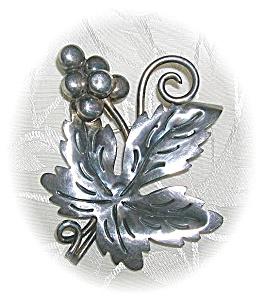 Vintage Signed BJ Taxco Sterling Silver Brooc (Image1)