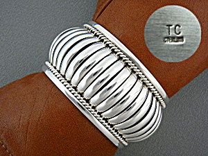 Native American Tommy Charlie Sterling Silver Cuff