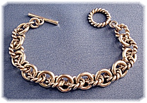 Bracelet Sterling Silver Links Toggle Yurman Design (Image1)