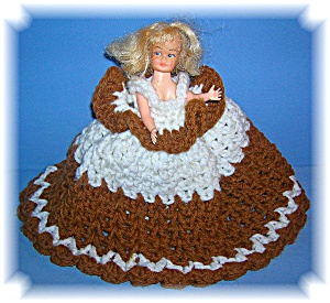 VINTAGE PLASTIC DOLL CROCHET DRESS (Image1)