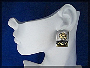 Tommy Singer Sterling Silver Gold Buffalo Clips