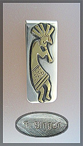 Tommy Singer Kokopelli Money Clip Pendant