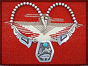 Navajo Tommy Singer Sterling Silver Turquoise Necklace