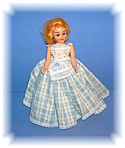 Vintage Jointed Doll Hard Plastic Blue Sleep Eye