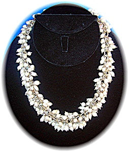 Necklace Sterling Silver Freshwater Pearls Drops (Image1)