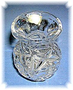 PRESSED GLASS VASE ECHT BLEIKRISTALL GEPRESST (Image1)
