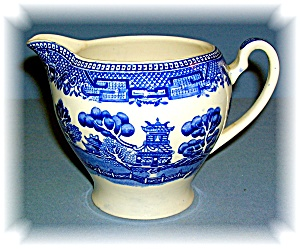 ALFRED MEAKIN OLD WILLOW BLUE CREAMER PITCHER ENGLAND (Image1)