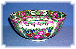 ORIENTAL PORCELAIN BOWL HIGHLY DECORATED SIGNED (Image1)